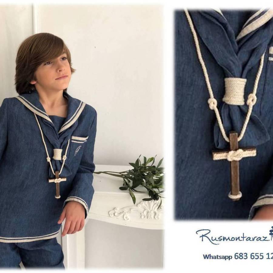 Cruz de comunión nudo marinero