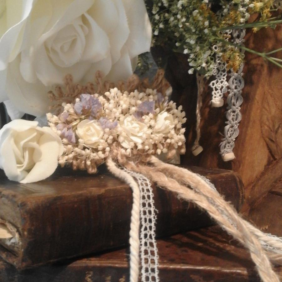 Tocado flores, coronitas de flores, adornos para el pelo, comunión, ceremonia, bodas